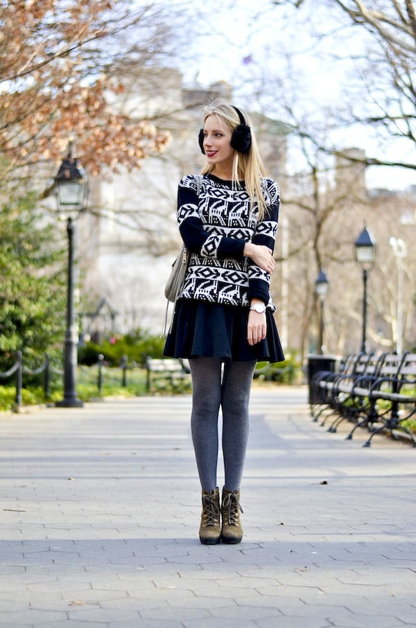 Alpine Sweater Skater Skirt