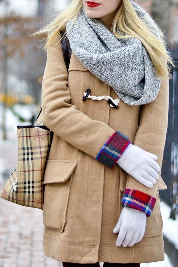 Asos Plaid Camel Coat 2