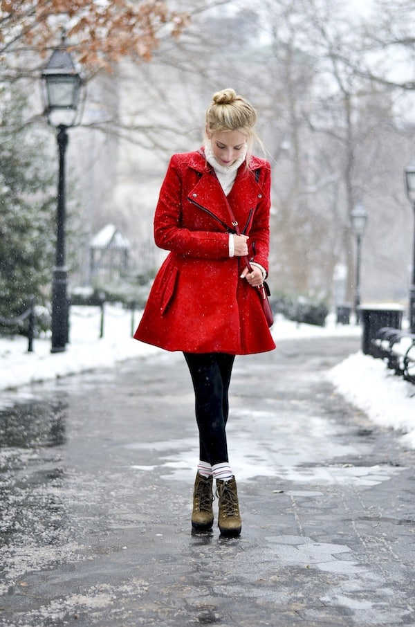 Asos Red Coat 1