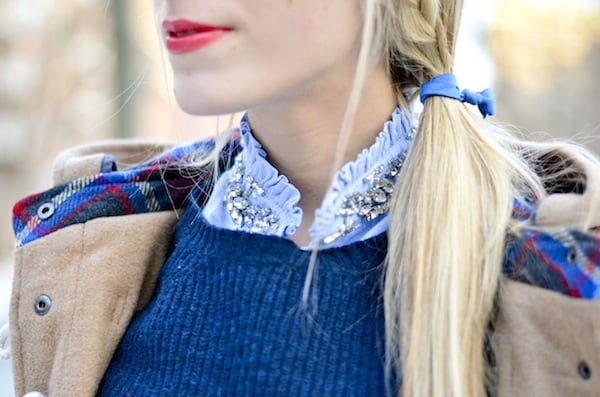 J. Crew Crystal Embellished Collar