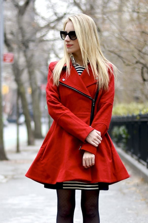 Asos Red Skater Coat 2