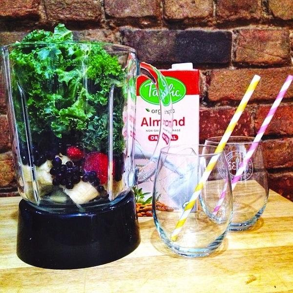Berry Kale Almond Milk Smoothie