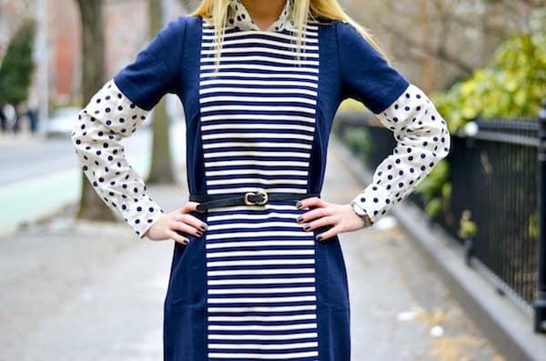 J Crew Stripe Knit Shift Dress 1