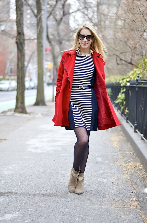 J. Crew Navy Stripe Dress