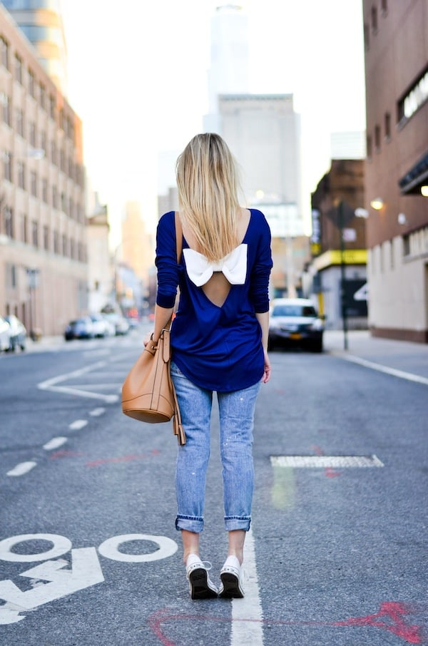 LuLus Bow Back Top