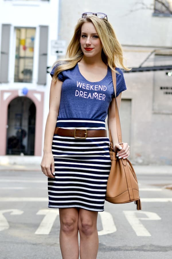 Old Navy Striped Jersey Pencil Skirt_1