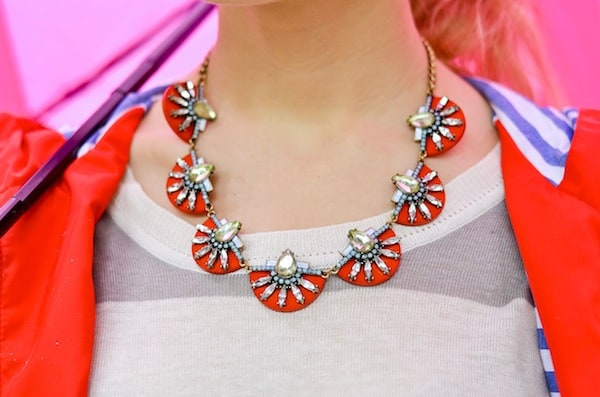 Bauble Bar Scarlet Nile Collar Necklace