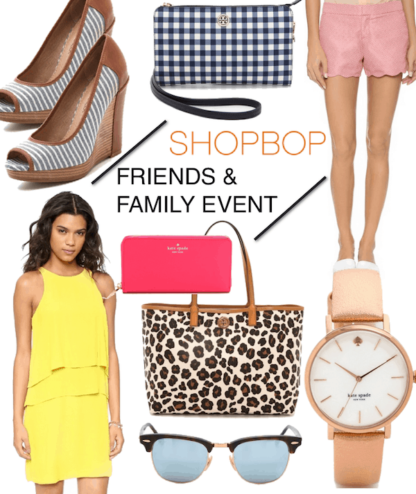 SHOPBOP Friends and Family 2014