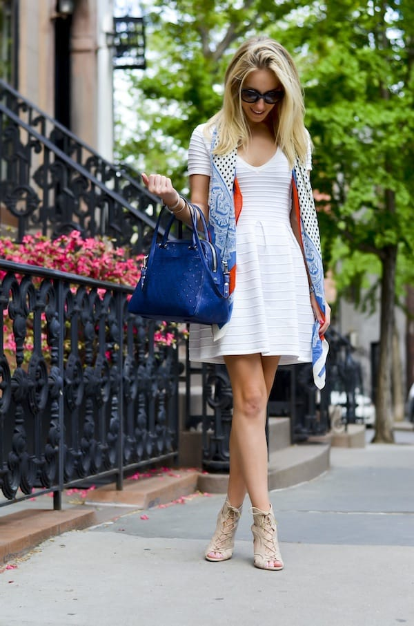 French Connection Grace Knit Flared Dress