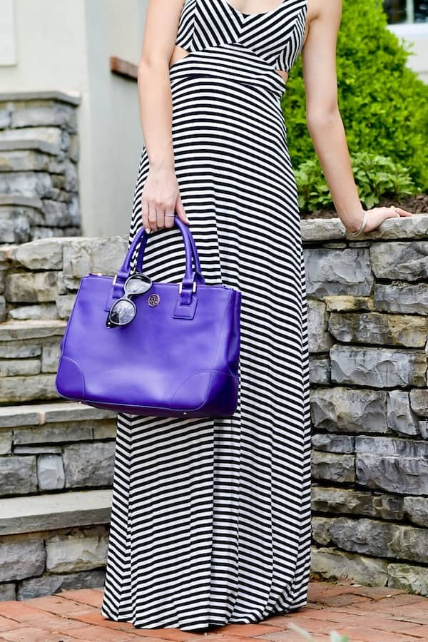 Tory Burch Purple Robinson Tote