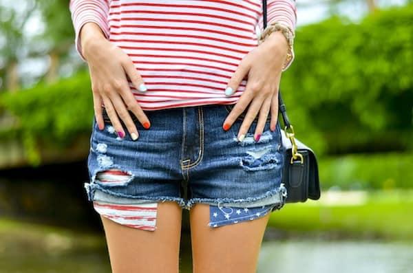 American Eagle Americana Print Shorts