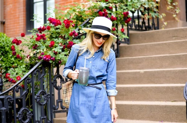 J Crew Factory Chambray Shirtdress