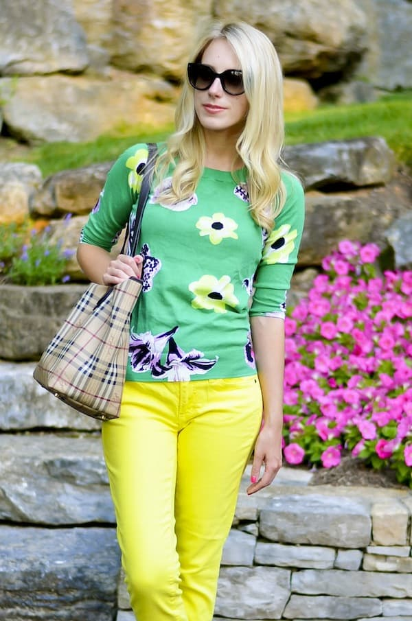 J Crew Factory Floral Charley Sweater