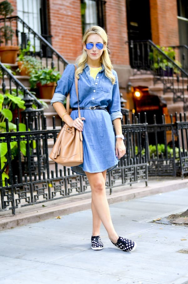 J Crew Chambray Shirtdress