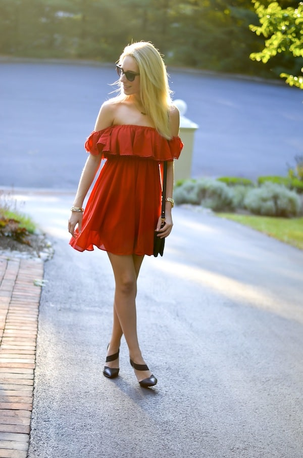 Chic Wish Off Shoulder Dress