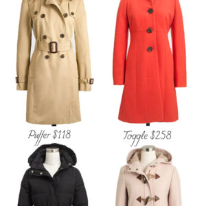 J. Crew Factory Winter Coats