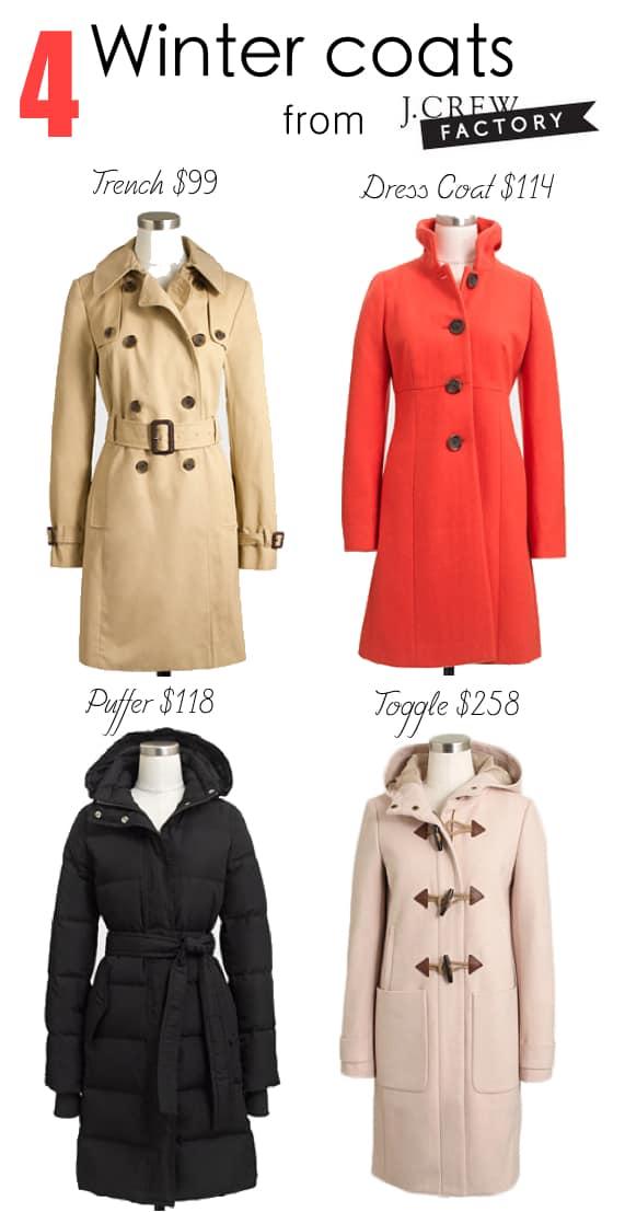 J. Crew Factory Winter Coats