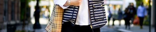 J Crew Factory Striped Puffer Vest