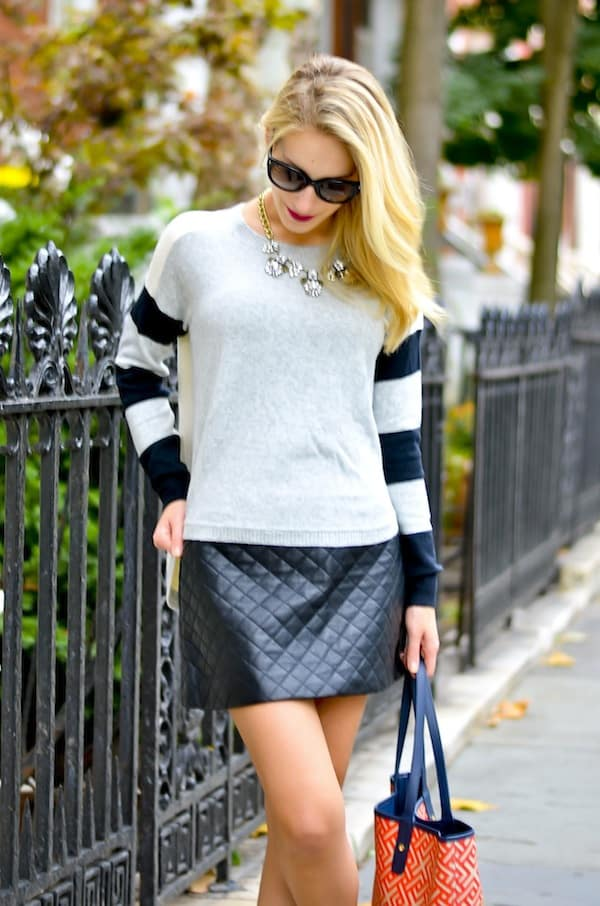 Topshop Black Quilted Skirt
