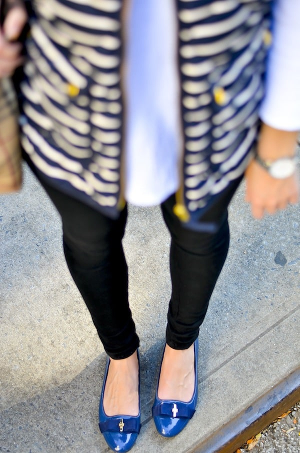 Tory Burch Bow Flats in Navy