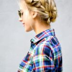 Double French Braided Bun Hair Tutorial