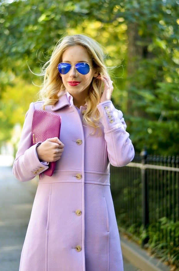 Pale Pink Ladies Coat | Down Coat