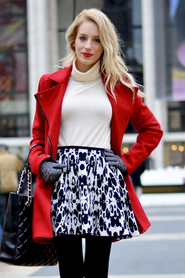 Asos Red Skater Coat