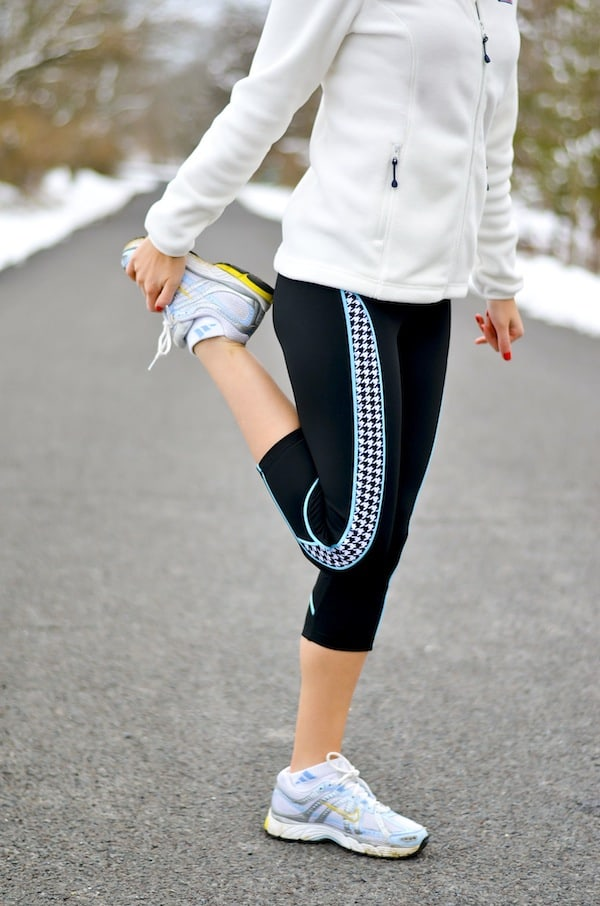 Devon Maryn Houndstooth Yoga Capris