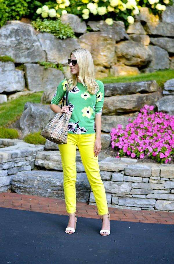 J. Crew Yellow Jeans