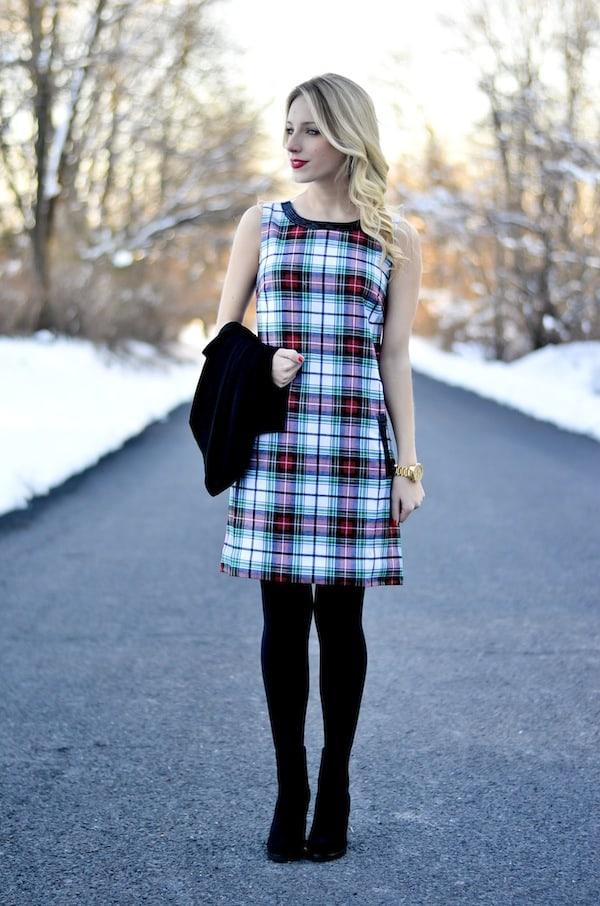 Vineyard Vines Tartan Shift Dress