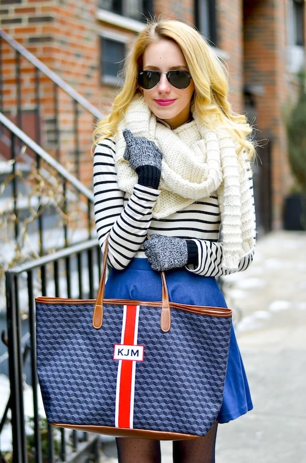 Monogram Stripe Tote Katies Bliss