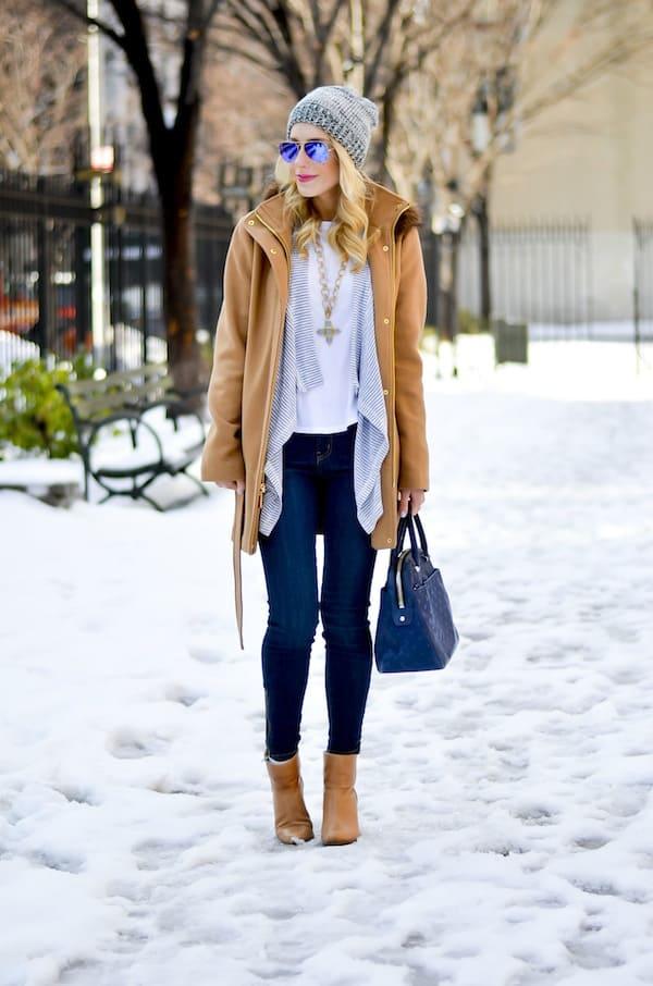 Ellen Tracy Fur Trim Coat