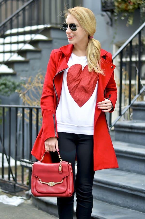 Wildfox Sparkle Heart Sweatshirt