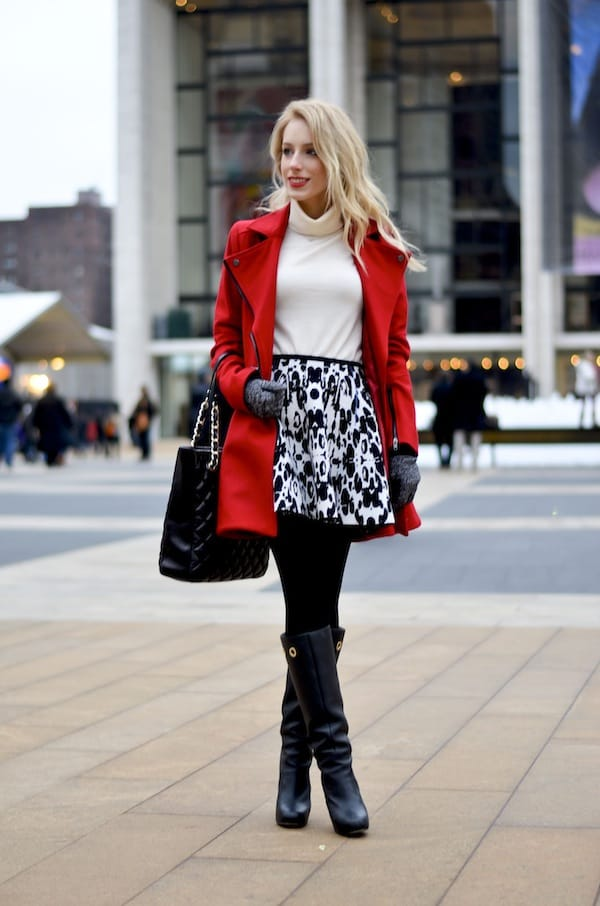 Asos Red Skater Coat
