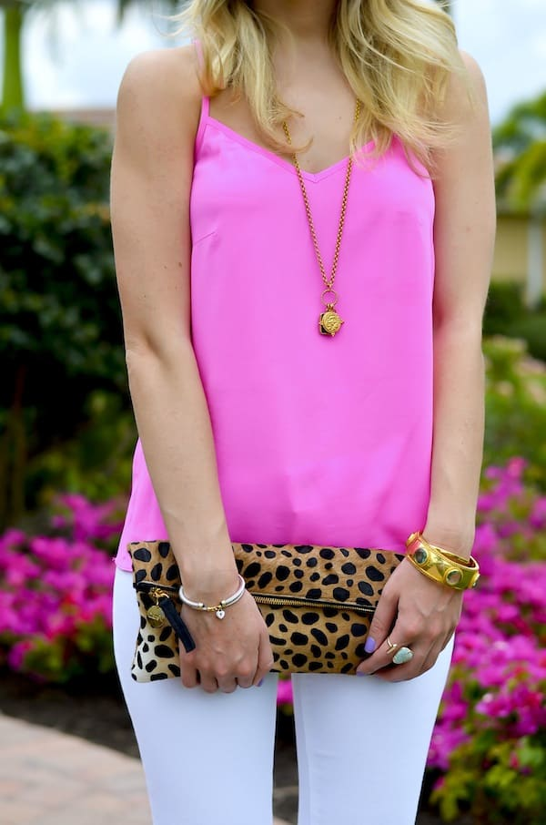Katie's Bliss | Clare V Leopard Clutch