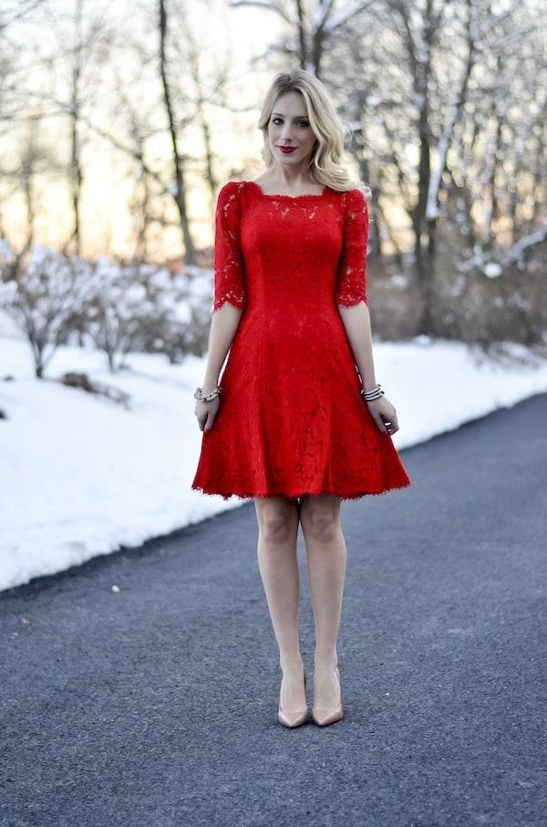 Eliza J Lace Tulip Dress