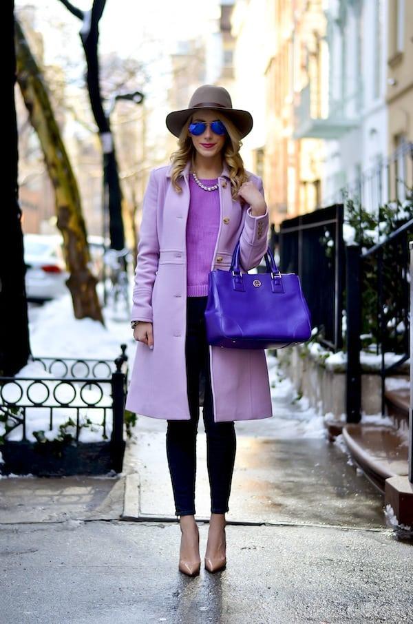 J. Crew Lavender Lady Day Coat