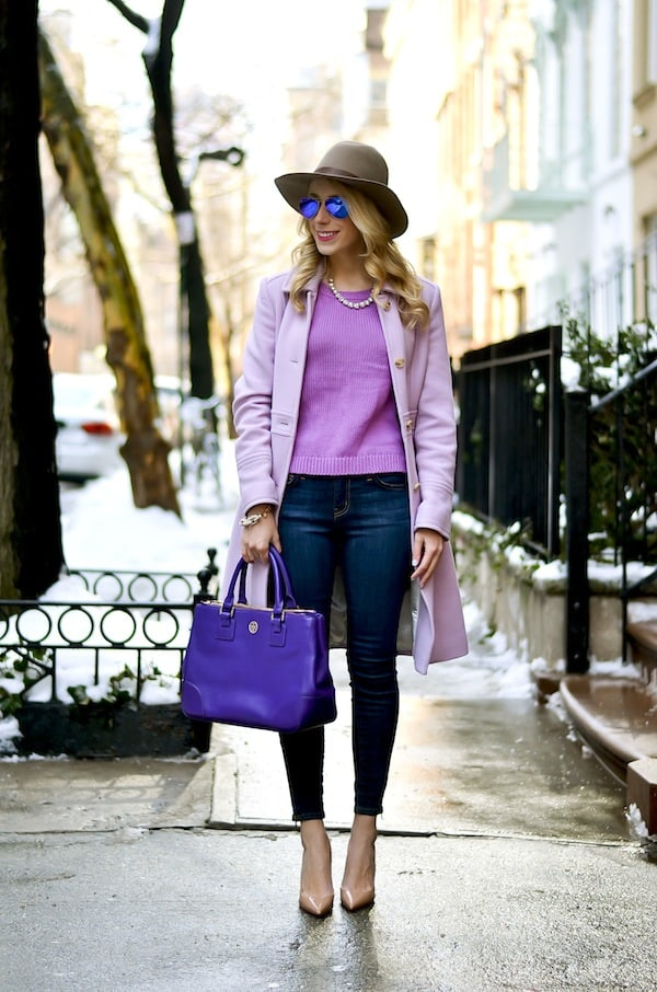 J. Crew Lavender Lady Day Coat