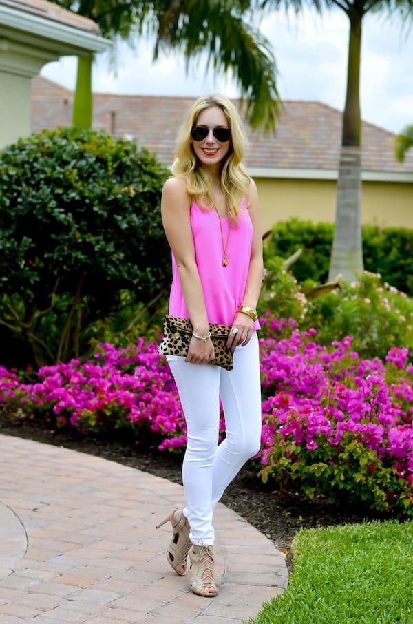 Katie's Bliss | Pink Silk Tank Top
