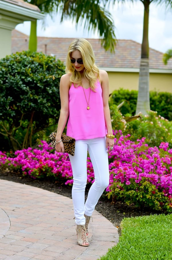Katie's Bliss | Pink Silk Tank Top