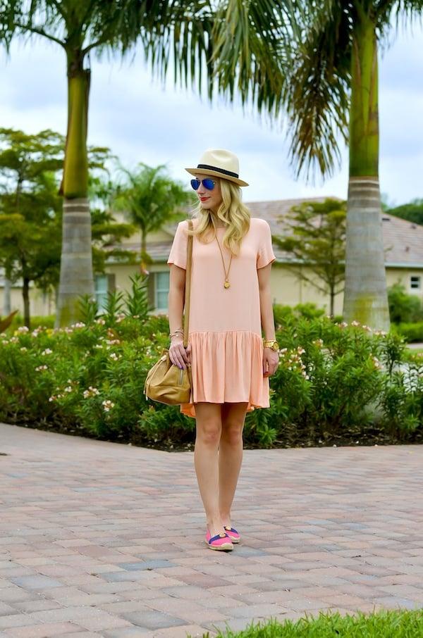 Pink Drop Waist Dress
