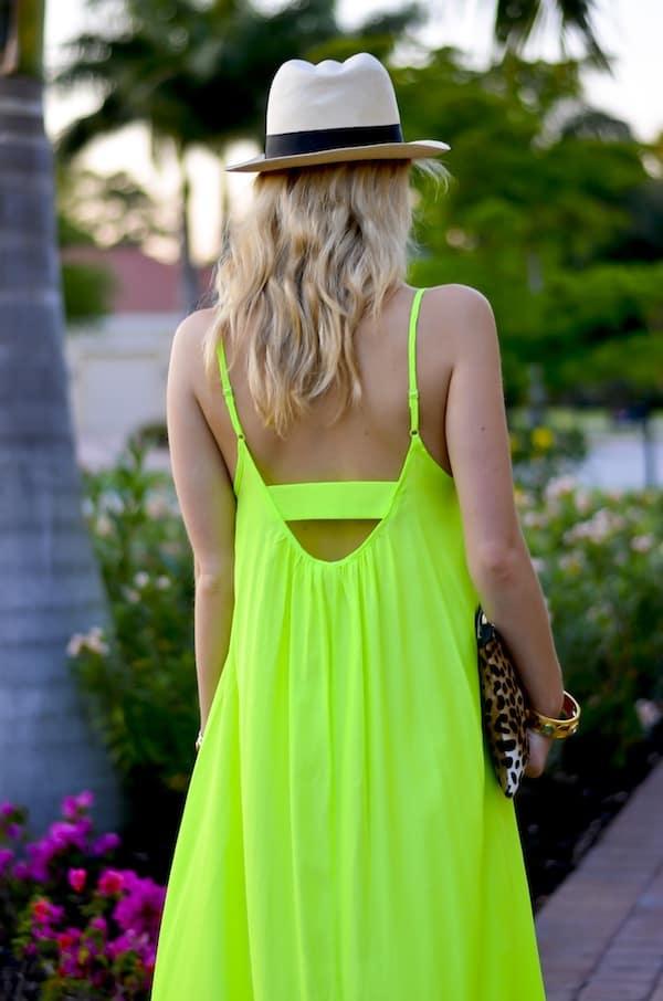 One by Pink Stitch Neon Maxi Dress