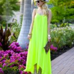 One by Pink Stitch Neon Maxi Dress