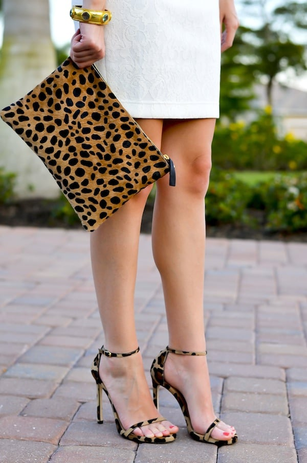 Stuart Weitzman Leopard Nudist Sandals
