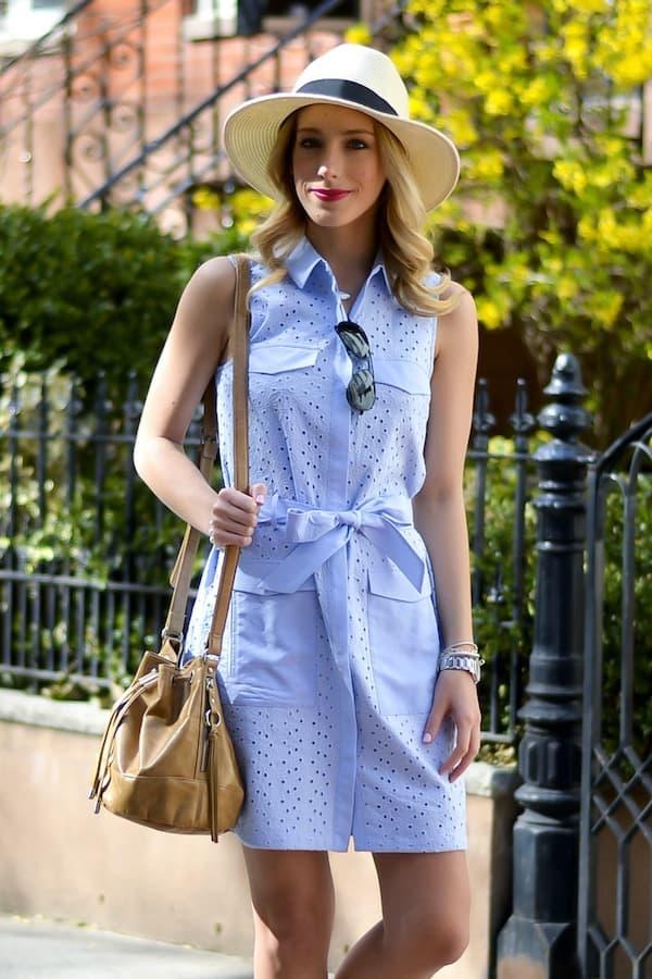 Cece by Cynthia Steffe Eyelet Shirtdress
