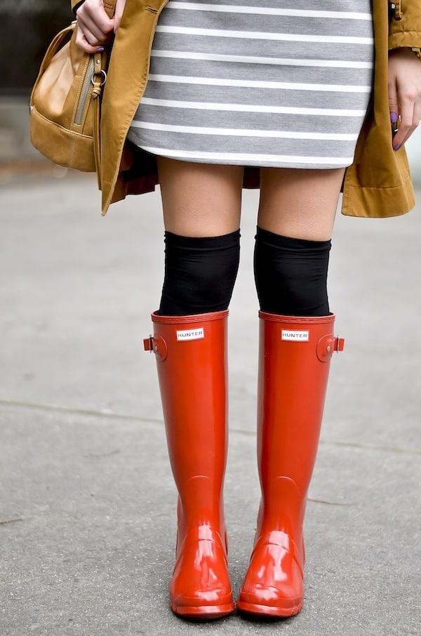 Hunter Tall Red Rain Boots_1