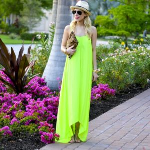 Neon Maxi Dress