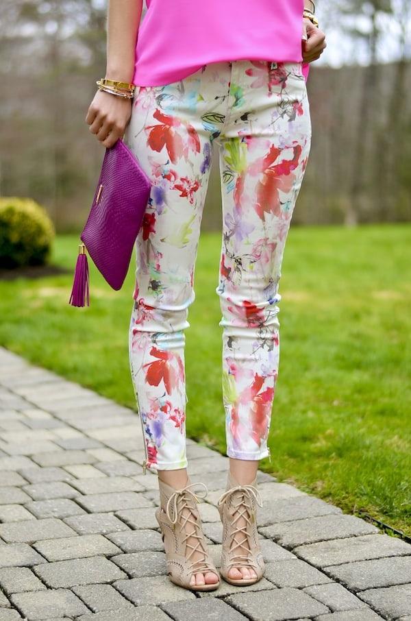 DL1961 Floral Crop Jeans