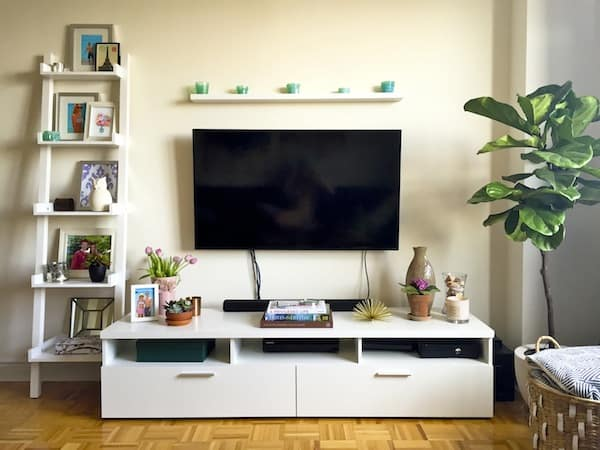 Katies Bliss Media Console and Living Room