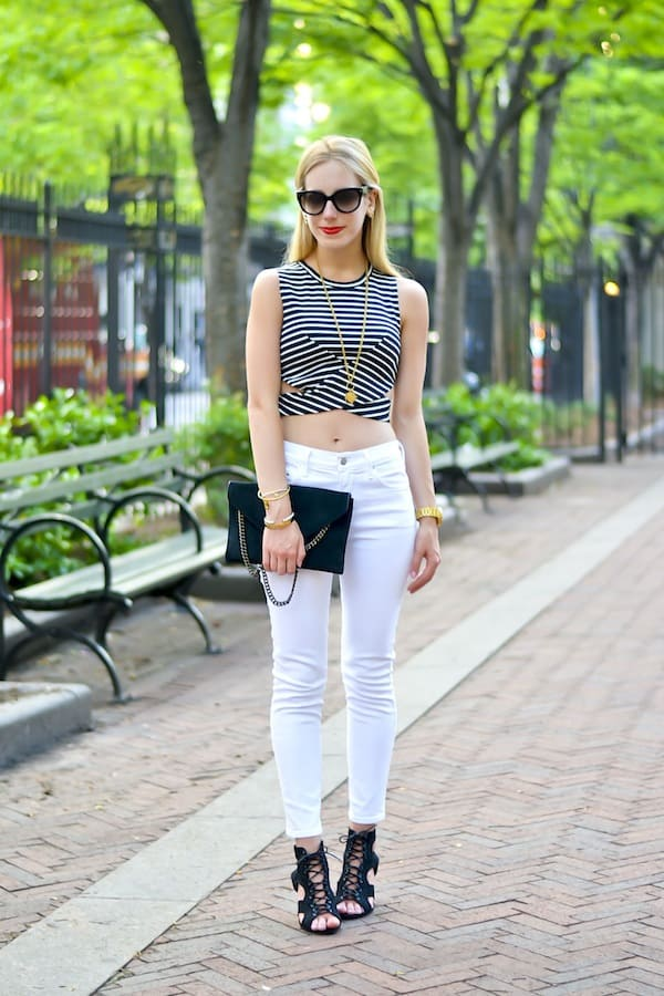 The Fifth Label Stripe Crop Top
